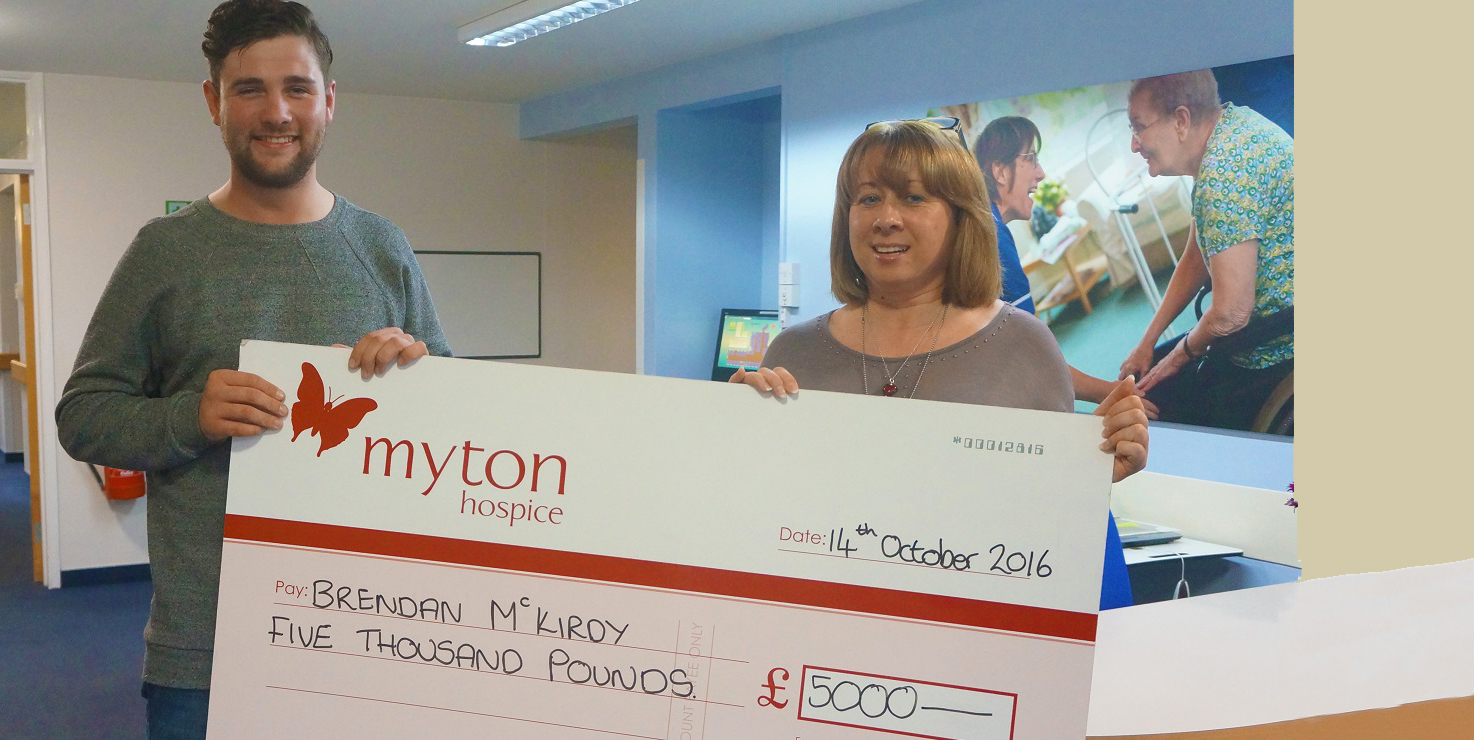The Myton Hospices Lottery Care Hospice Leamington Warwick Coventry Brendan