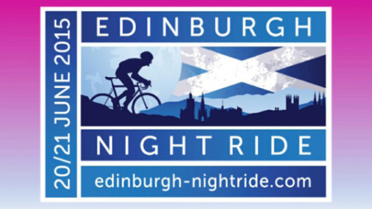 Edinburgh Night Ride Cycle Bikeride Fundraising Challenge Event The Myton Hospices Warwick Hospice Coventry Leamington Spa Rugby