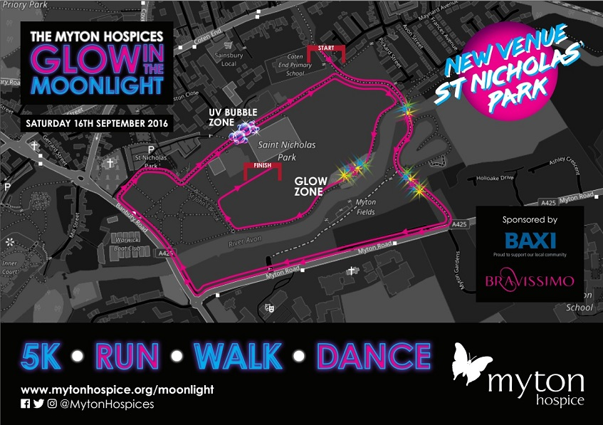The Myton Hospices - Glow in the Moonlight 2017 - Map Photo