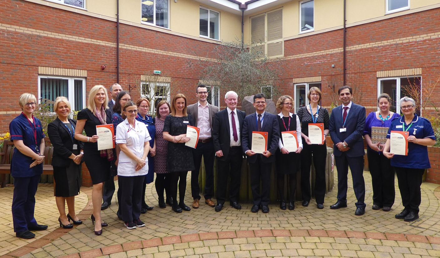 Coventry Integrated Motor Neurone Disease Multi-Disciplinary Team presented with 'Extra Mile Award' at Coventry Myton Hospice