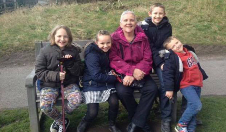 Norma Bowers and grandkids - The Myton Hospices - Glow in The City