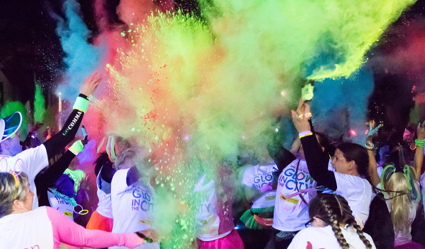 Glow in the City 2017 Coventry Blog Header The Myton Hospices Leamington Rugby Warwick Spa