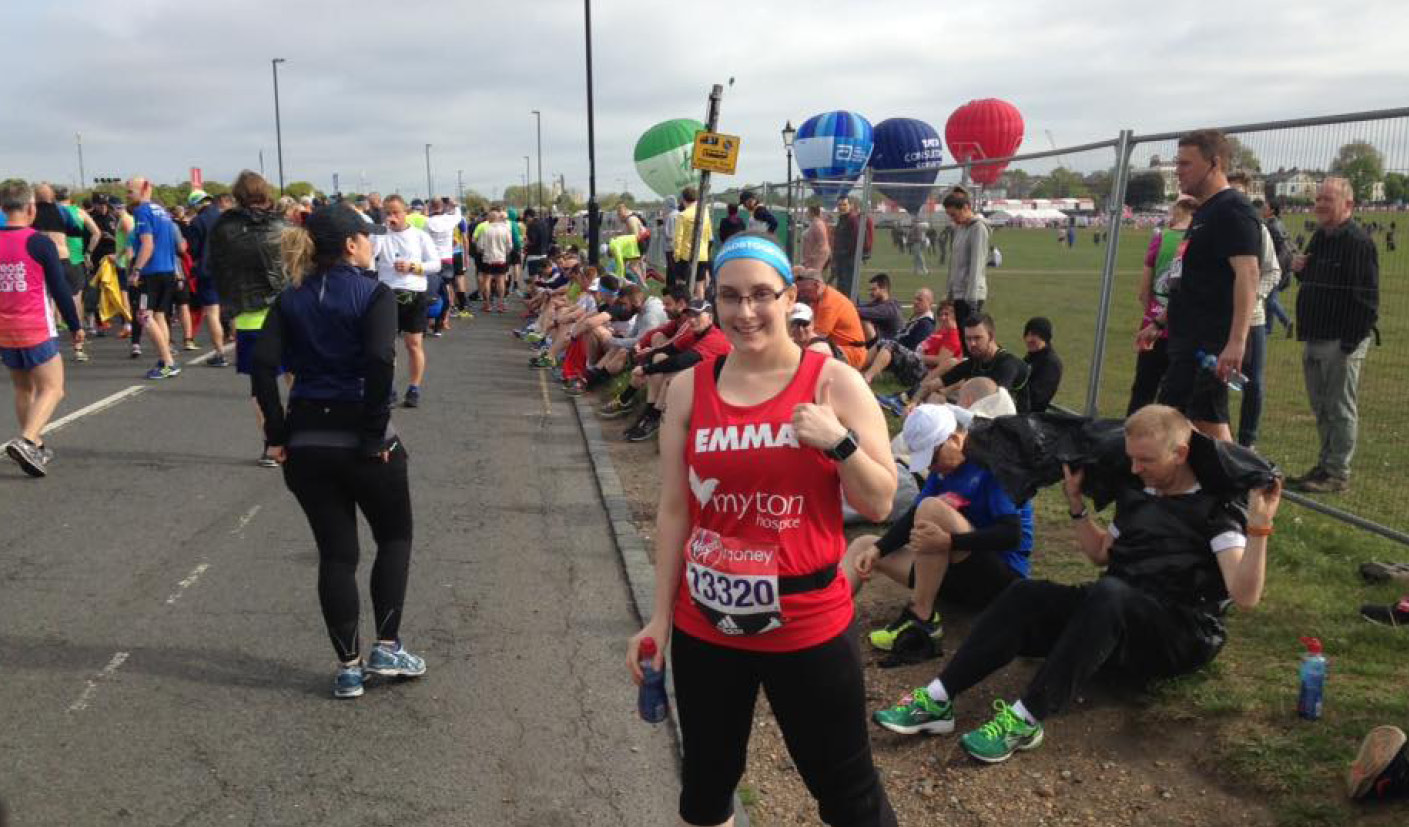 Emma Hodgkins - London Marathon - The Myton Hospices