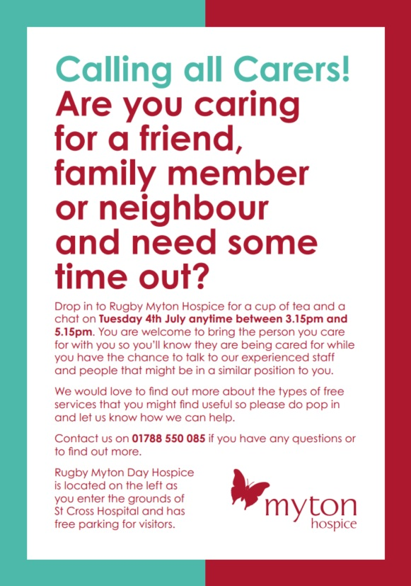 Carers Afternoon - The Myton Hospice - Rugby