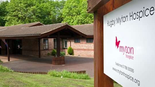 Rugby Myton Hospice Entrance - The Myton Hospices - Rugby