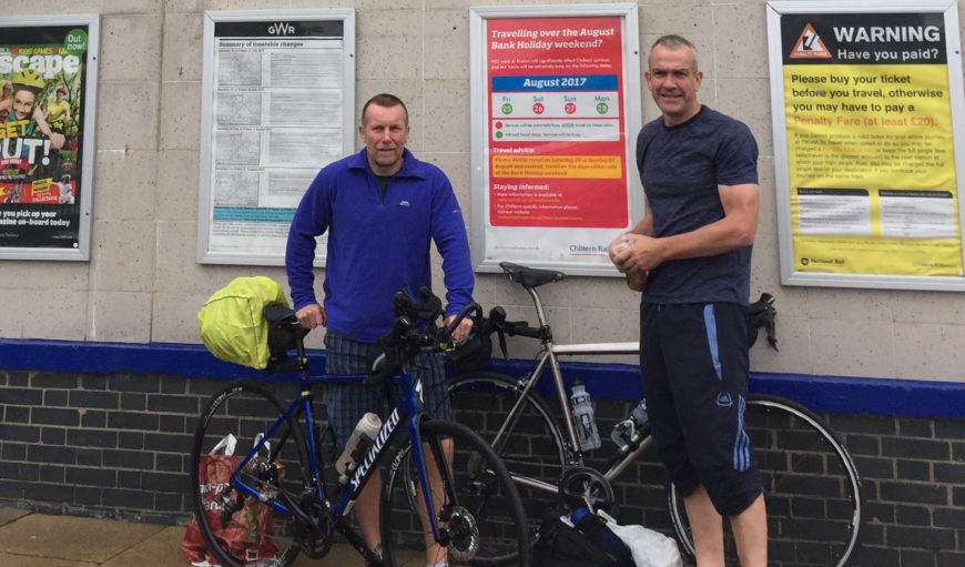 George and David - Cycling - Fundraising - The Myton Hospices