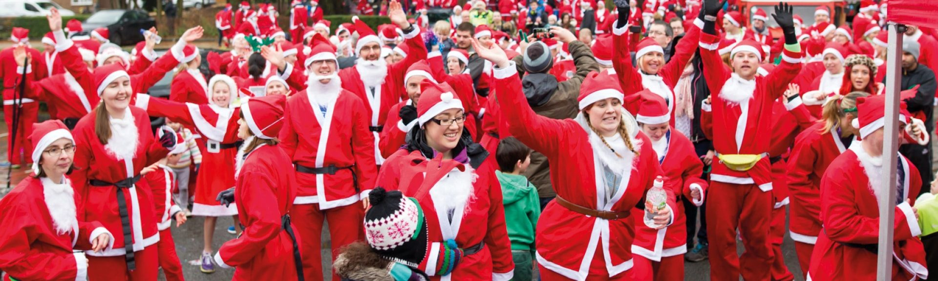 The Myton Hospices - Home Page Banner - Santa Dash 2017