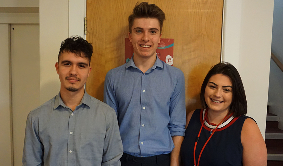 Luc, Liam and Charlie - The Myton Hospices - National Apprenticeship Week