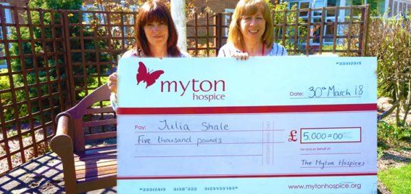 The Myton Hospices Lottery Raffle Winner Julia 96dpi