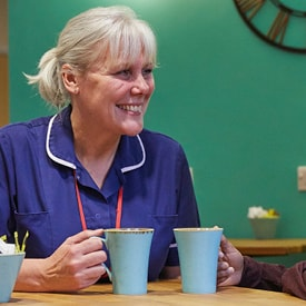 The Myton Hospices - Day Hospice - Coventry - Square Menu - Nurse -Coffee