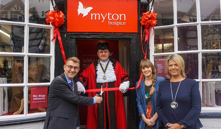 The Myton Hospices Alcester Shop Opening - Blog Header