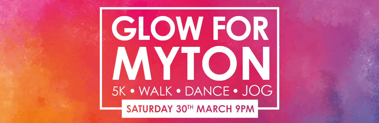 The Myton Hospices - Glow for Myton 2019 - Mid page banner