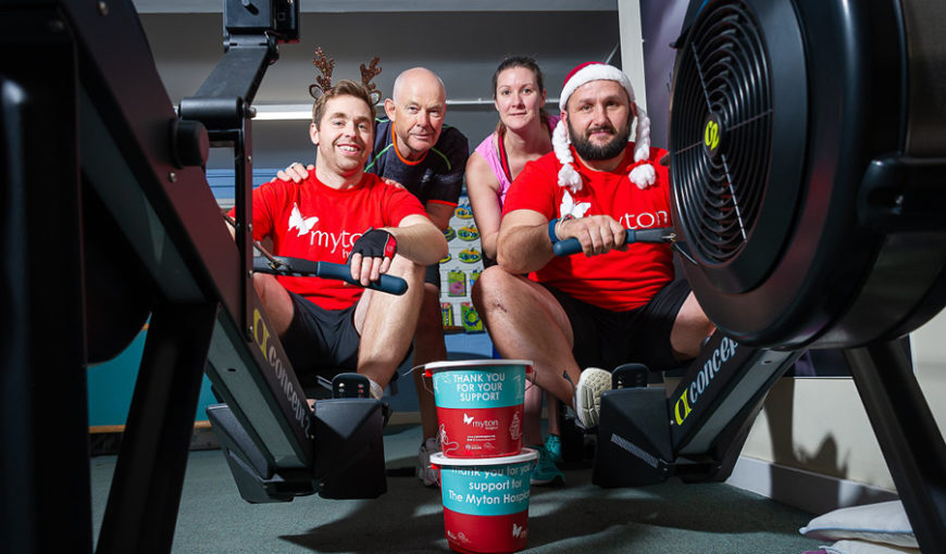 John Powell and Tom Mountain - The Myton Hospices - Rowing
