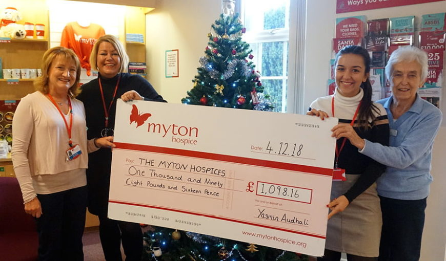 Yasmin Audhali - Corporate fundraiser - The Myton Hospices