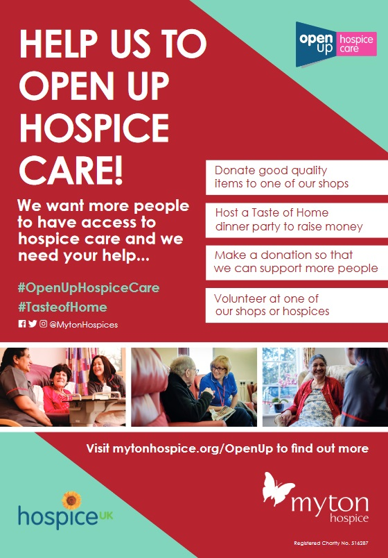 Open Up Hospice Care - Community Event - The Myton Hospices
