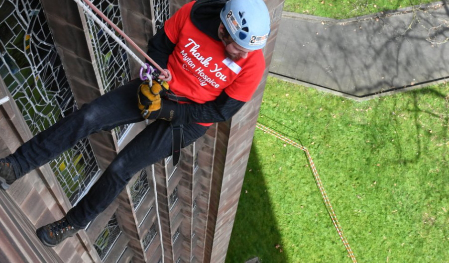 The Myton Hospices - Abseil Blog Header 2019 - Coventry Warwick Rugby Leamington Spa