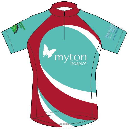 The Myton Hospices - Cycle Challenge 2019 - Jersey with sponsors PNG