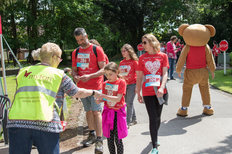 The Myton Hospices - Walk for Myton 2019 - Volunteering