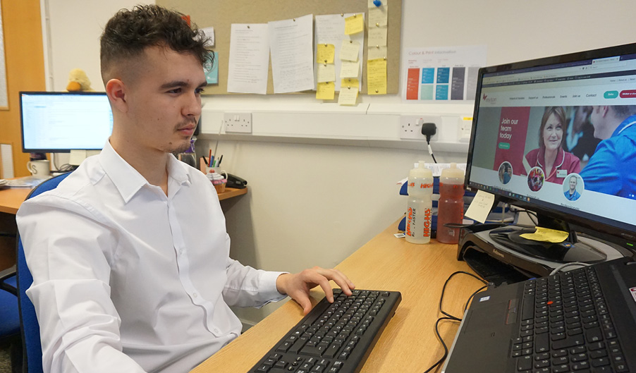 Luc Ord - The Myton Hospices - Apprentice - National Apprenticeships Week