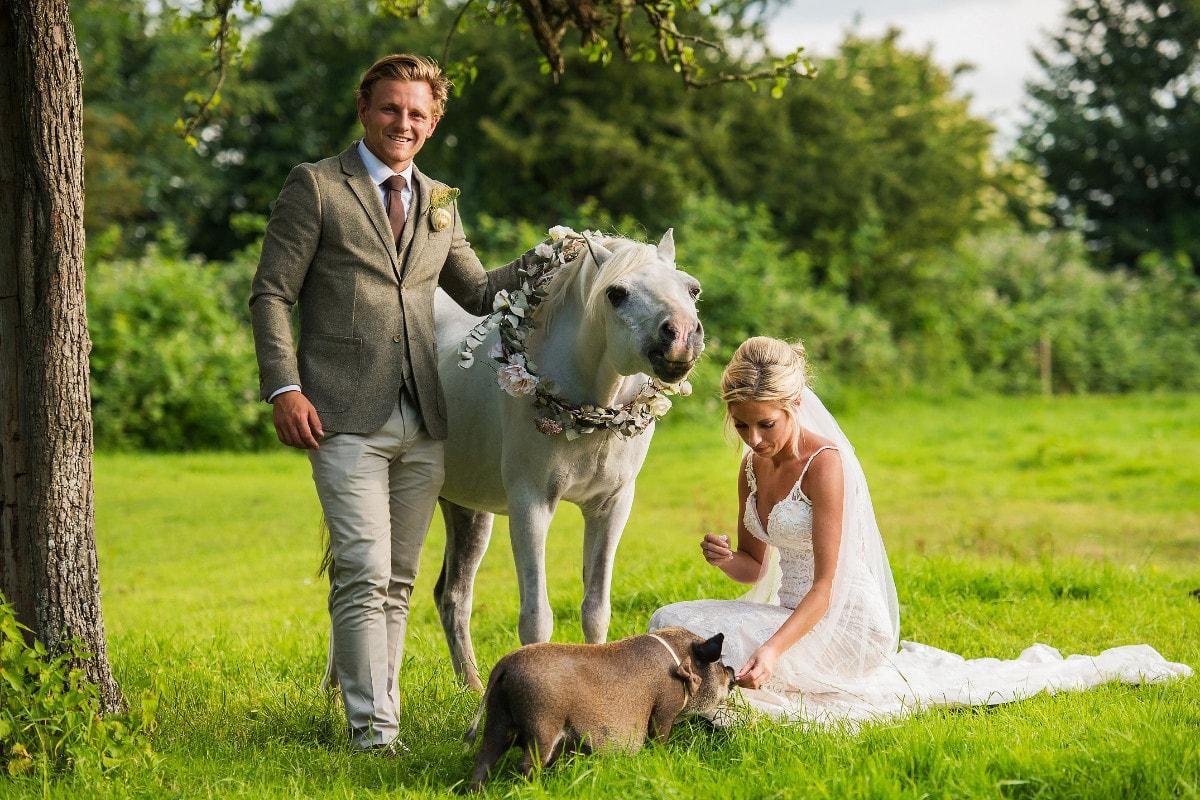 Abbie and Callum wedding photo