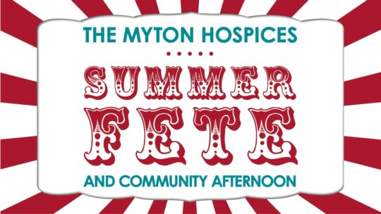 The Myton Hospices - Summer Fete and Community Afternoon Mid Page Banner - Warwick Coventry Leamington Spa Rugby Warwickshire Hospice - Channel ImageThe Myton Hospices - Summer Fete and Community Afternoon Mid Page Banner - Warwick Coventry Leamington Spa Rugby Warwickshire Hospice - Channel Image