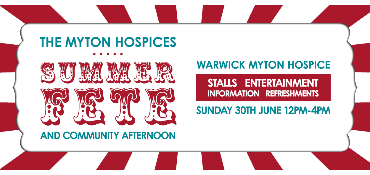 The Myton Hospices - Summer Fete and Community Afternoon Mid Page Banner - Warwick Coventry Leamington Spa Rugby Warwickshire Hospice