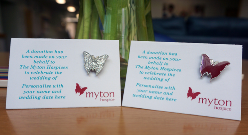 The Myton Hospices - Wedding Favour Pins 2019