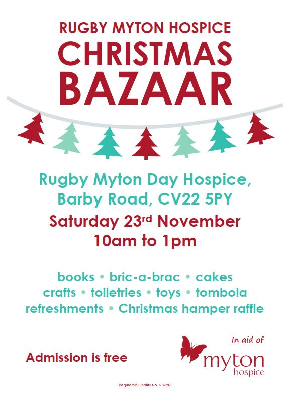 Rugby Christmas Bazaar 2019 - Community Event - The Myton Hospices - Tombola - Raffle