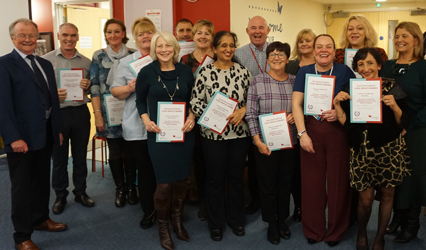 The Myton Hospices - Staff - Volunteers - Awards - Warwickshire - Coventry - Leamington Spa - Rugby