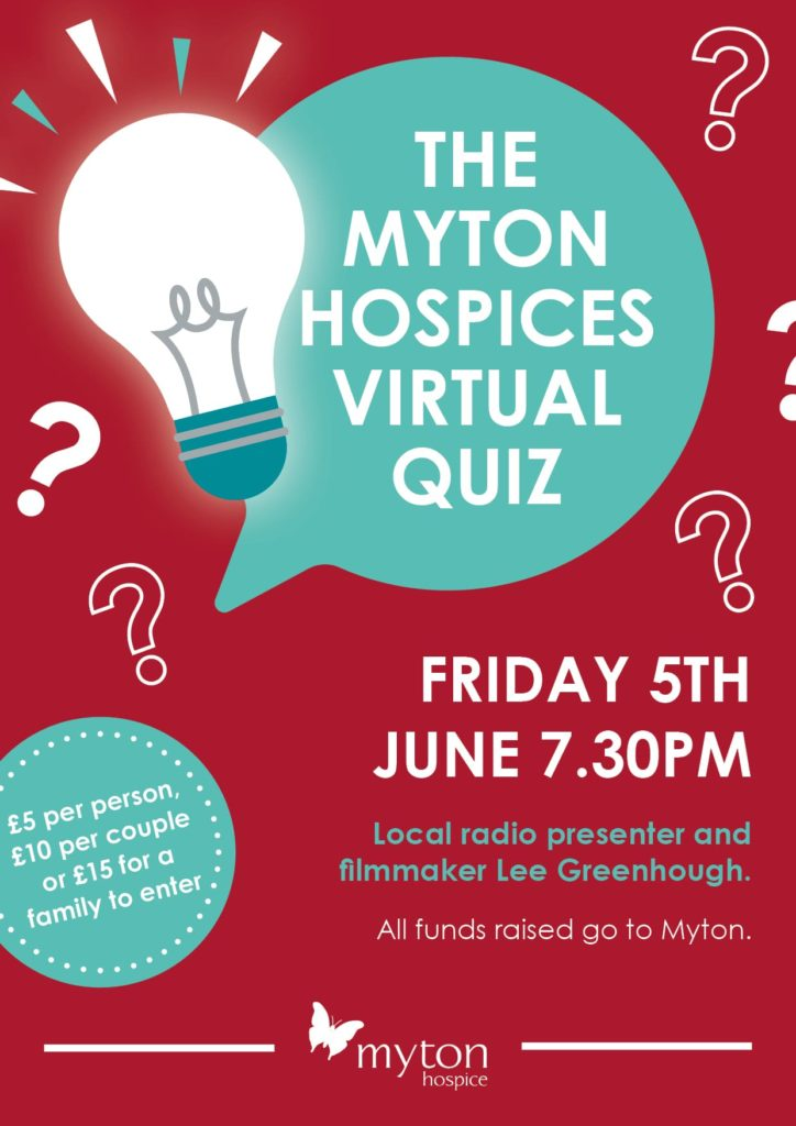 The Myton Hospices Big Quiz 2.0 - Poster
