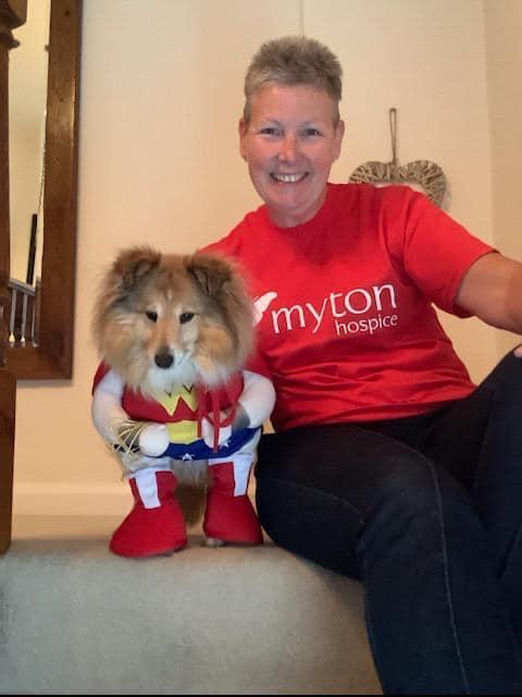 Super fundraiser Rachel Thorpe and her dog Dolly Myton Mountain