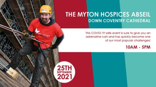 The Myton Hospices - Abseil 2021- Mid Page Banner - September