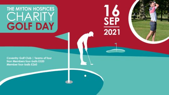 The Myton Hospices - Golf Day Mid Page Banner - 2021 Leamington Spa Warwick Coventry Rugby
