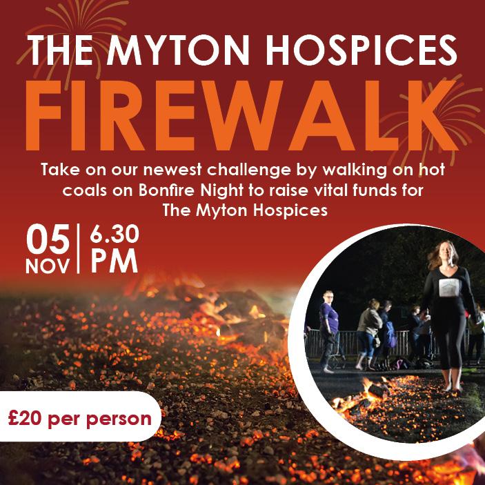 The Myton Hospices - Firewalk 2021 - Social Share