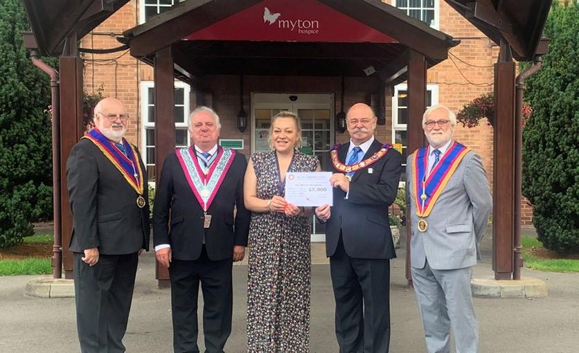 The Myton Hospices - Myton Hospice - Mark Master Masons - Donation - Warwickshire - Warwick - Coventry - Leamington Spa - Rugby