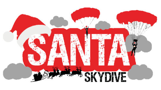 The Myton Hospices - Myton Hospice - Santa Skydive - Warwickshire - Coventry - Warwick - Rugby - Leamington Spa - Fundraising - Event - Festive - Christmas