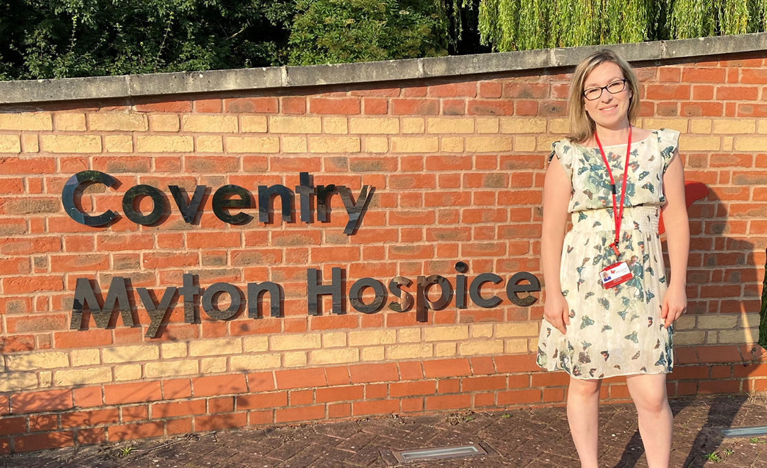 The Myton Hospices - Lizzy Jenkins - Research Nurse - Hospice Care 2021 - Charity - Warwickshire - Warwick - Coventry - Leamington Spa - Rugby - Palliative Care