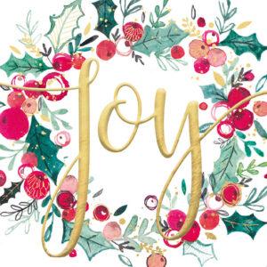 Joy Wreath - Christmas Cards - The Myton Hospices