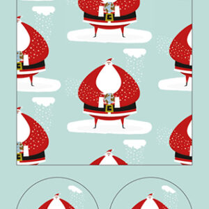 Santa - Wrapping Paper - The Myton Hospices