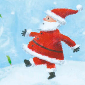 Santa with pudding football - Money Wallet - The Myton Hospices