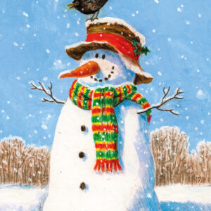 Snowman Visitor - Christmas Cards - The Myton Hospices